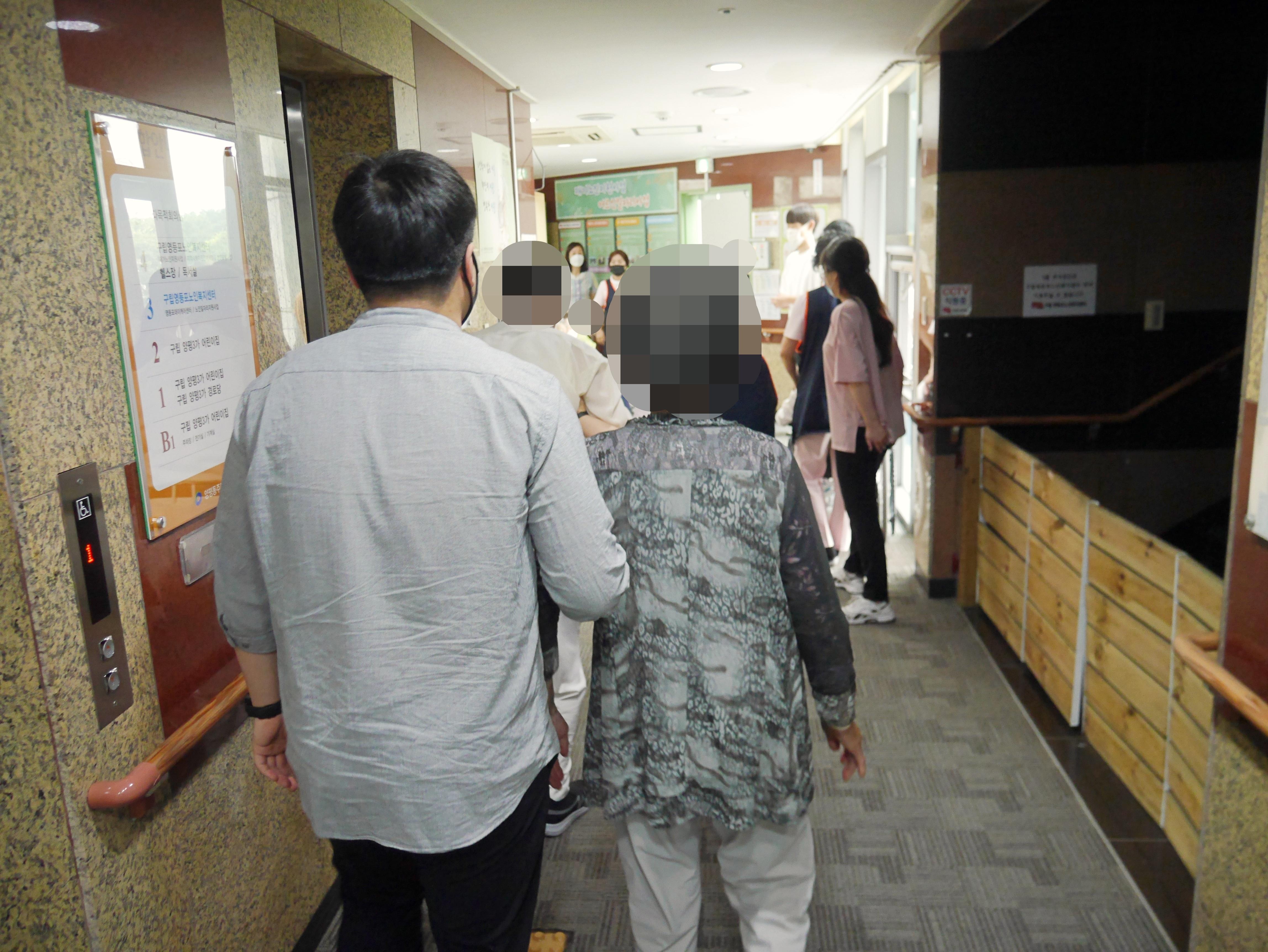 주야간보호센터 6월 소방훈련 사진입니다.
