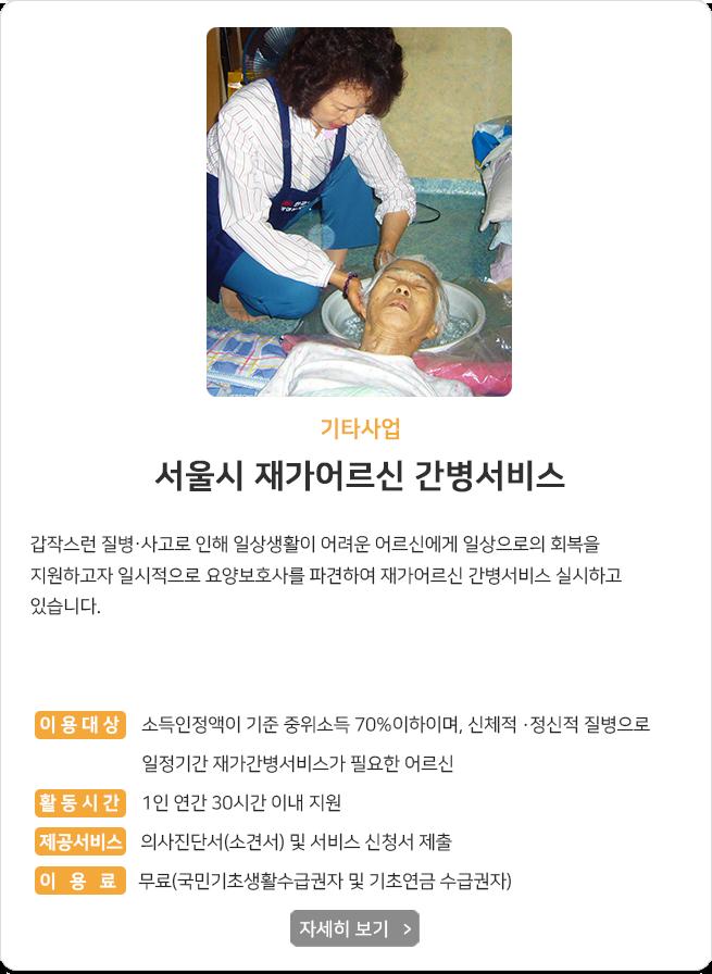 서울시재가어르신간병서비스